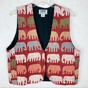Soho Compagnie patchwork hand stitched elephants